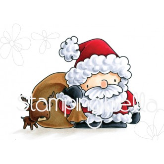 THE LITTLES SANTA'S LOOT rubber stamps