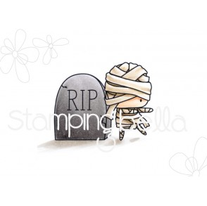 THE LITTLES MUMMY and the TOMBSTONE rubber stamp