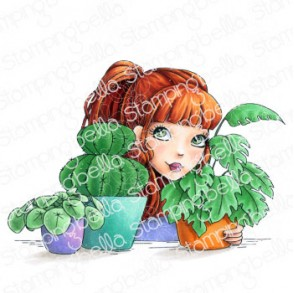 MOCHI PLANT GIRL RUBBER STAMP