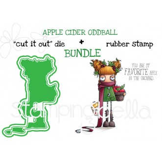 "APPLE CIDER ODDBALL RUBBER STAMP + ""CUT IT OUT"" DIE BUNDLE (SAVE 15%)"