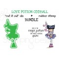 "LOVE POTION ODDBALL rubber stamp + ""cut it out"" die BUNDLE (save 15%)"