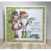 ODDBALL SANTA AND THE MISSUS RUBBER STAMP