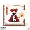 ODDBALL QUEEN OF HEARTS rubber stamp