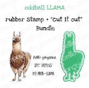 "ODDBALL LLAMA RUBBER STAMP + ""CUT IT OUT"" DIE BUNDLE (SAVE 15%)"