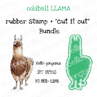 "ODDBALL LLAMA RUBBER STAMP + ""CUT IT OUT"" DIE BUNDLE (SAVE 15%)"