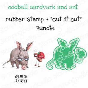 "ODDBALL AARDVARK AND ANT RUBBER STAMP + ""CUT IT OUT"" DIE BUNDLE (SAVE 15%)"
