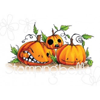 ODDBALL NAUGHTY PUMPKINS RUBBER STAMP
