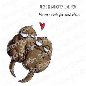 ODDBALL OTTERS RUBBER STAMP