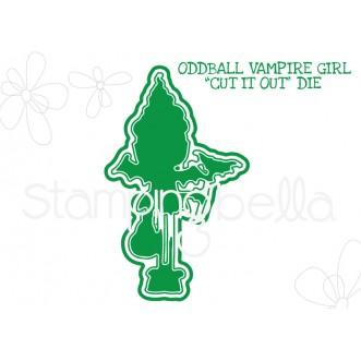 "ODDBALL VAMPIRE GIRL ""CUT IT OUT"" DIE"