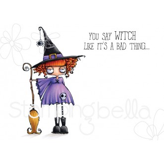 ODDBALL WITCH RUBBER STAMP
