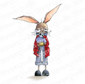 ODDBALL MARCH HARE rubber stamp (ALICE IN WONDERLAND COLLECTION)