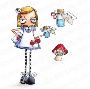 ODDBALL ALICE IN WONDERLAND RUBBER STAMP