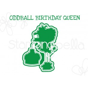 "ODDBALL BIRTHDAY QUEEN ""CUT IT OUT"" DIE"