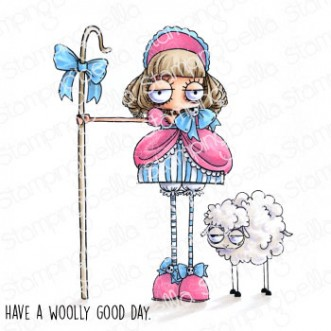 ODDBALL LITTLE BO PEEP RUBBER STAMP