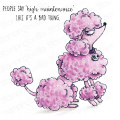 ODDBALL POODLE RUBBER STAMP