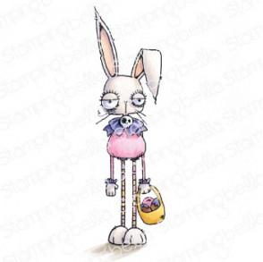 ODDBALL EASTER BUNNY RUBBER STAMP
