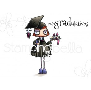ODDBALL GIRL GRADUATE RUBBER STAMP