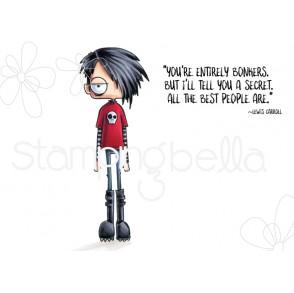 ODDBALL STANDING BOY RUBBER STAMP