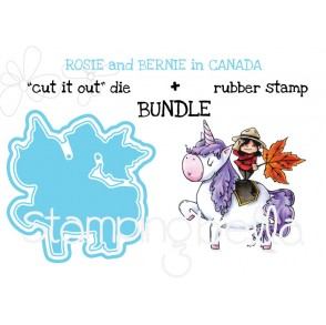 "Rosie and Bernie in Canada RUBBER STAMP + ""CUT IT OUT"" DIE BUNDLE (save 15%)"
