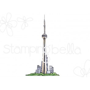 Rosie and Bernie's CN TOWER rubber stamp