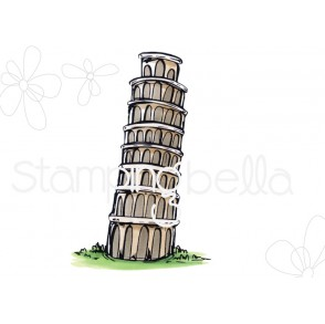 Rosie and Bernie's LEANING TOWER OF PISA rubber stamp