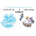 "Rosie and Bernie UNDER THE SEA RUBBER STAMPS + ""CUT IT OUT"" DIES BUNDLE (save 15%)"