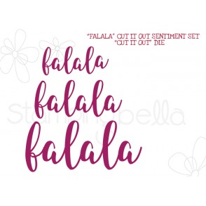 """FALALA"" SENTIMENT DIE SET (SET OF 3 DIES)"
