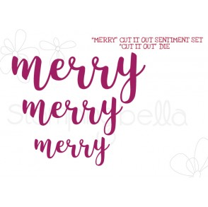 """MERRY"" SENTIMENT DIE SET (SET OF 3 DIES)"