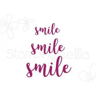 "SMILE SENTIMENT DIE SET (SET OF 3 ""CUT IT OUT"" DIES)"