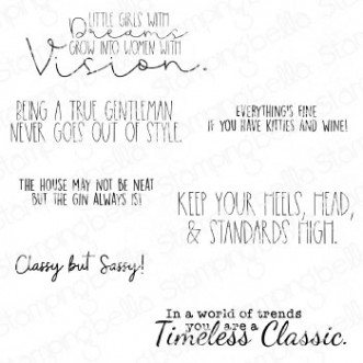 TIMELESS CLASSIC SENTIMENT SET (7 RUBBER STAMPS)