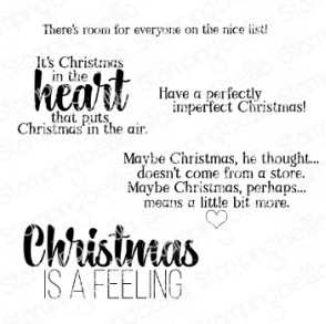 CHRISTMAS SENTIMENT SET rubber stamps