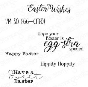 EASTER SENTIMENT SET RUBBER STAMPS