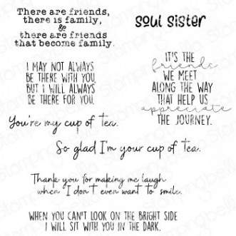 FRIENDSHIP SENTIMENT SET (8 RUBBER STAMPS)