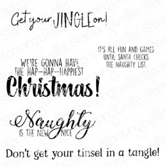 HOLIDAY FUN SENTIMENT SET rubber stamps