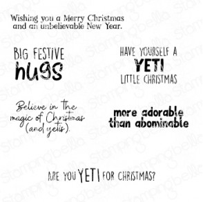YETI SENTIMENT SET rubber stamps