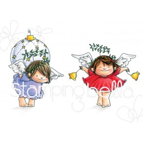 ANGEL SQUIDGIES ORNAMENT and BELLS rubber stamps