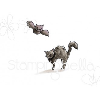SQUIDGY BAT and CAT rubber stamps
