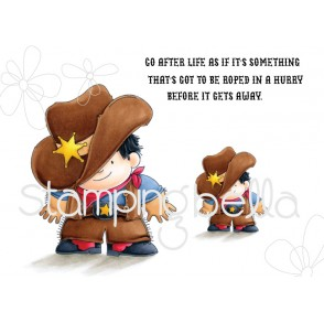 Cowboy Squidgy rubber stamps (set of 3 stamps)