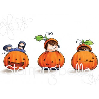 squidgy PUMPKIN TRIO rubber stamps