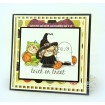 squidgy WITCHY TRICK OR TREATER rubber stamp