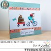 the SQUIDGY on a JOURNEY RUBBER STAMPS (set of 2 stamps)
