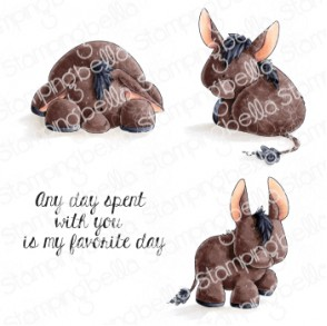 DONKEY TRIO STUFFIES RUBBER STAMPS