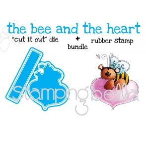 """the BEE and the HEART """"CUT IT OUT"""" DIES + RUBBER STAMP BUNDLE (save 15% when purchased together)"""