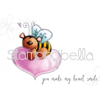 the BEE and the HEART (includes 2 stamps)