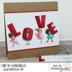 TEENY TINY TOWNIE LOVE RUBBER STAMP