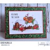 "TEENY TINY TOWNIE ON A YULE LOG RUBBER STAMP +""CUT IT OUT"" DIE BUNDLE (SAVE 15%)"