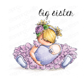 TINY TOWNIE BIG SISTER RUBBER STAMP
