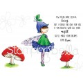 TINY TOWNIE FAIRY garden FAIRY cling mounted RUBBER STAMPS
