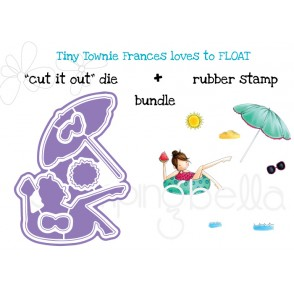 "TINY TOWNIE FRANCES loves to FLOAT ""CUT IT OUT"" DIES + RUBBER STAMP BUNDLE (save 15%)"