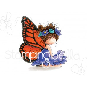 tiny townie butterfly girl BESS rubber stamp